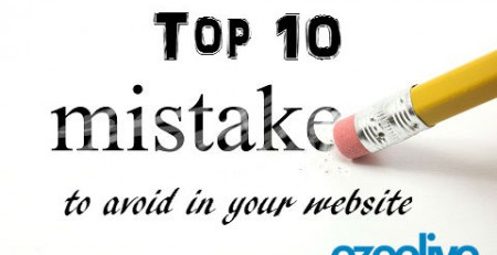 Ezeelive Technologies India - top ten mistake to avoid in your website
