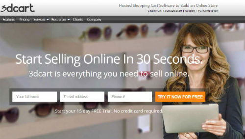 3dCart - hosted ecommerce for small business