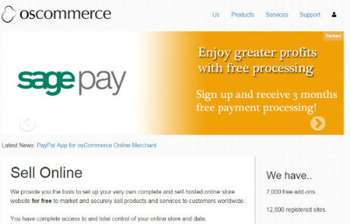 osCommerce - best php open source shopping cart