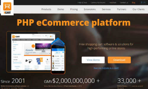 X-Cart - top enterprise ecommerce systems for small business